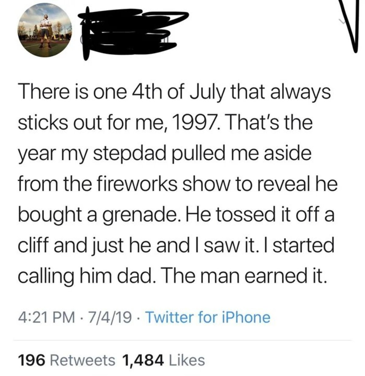 """""""The Fireworks"""". .. can you just buy hand grenades? Comment edited at ."""