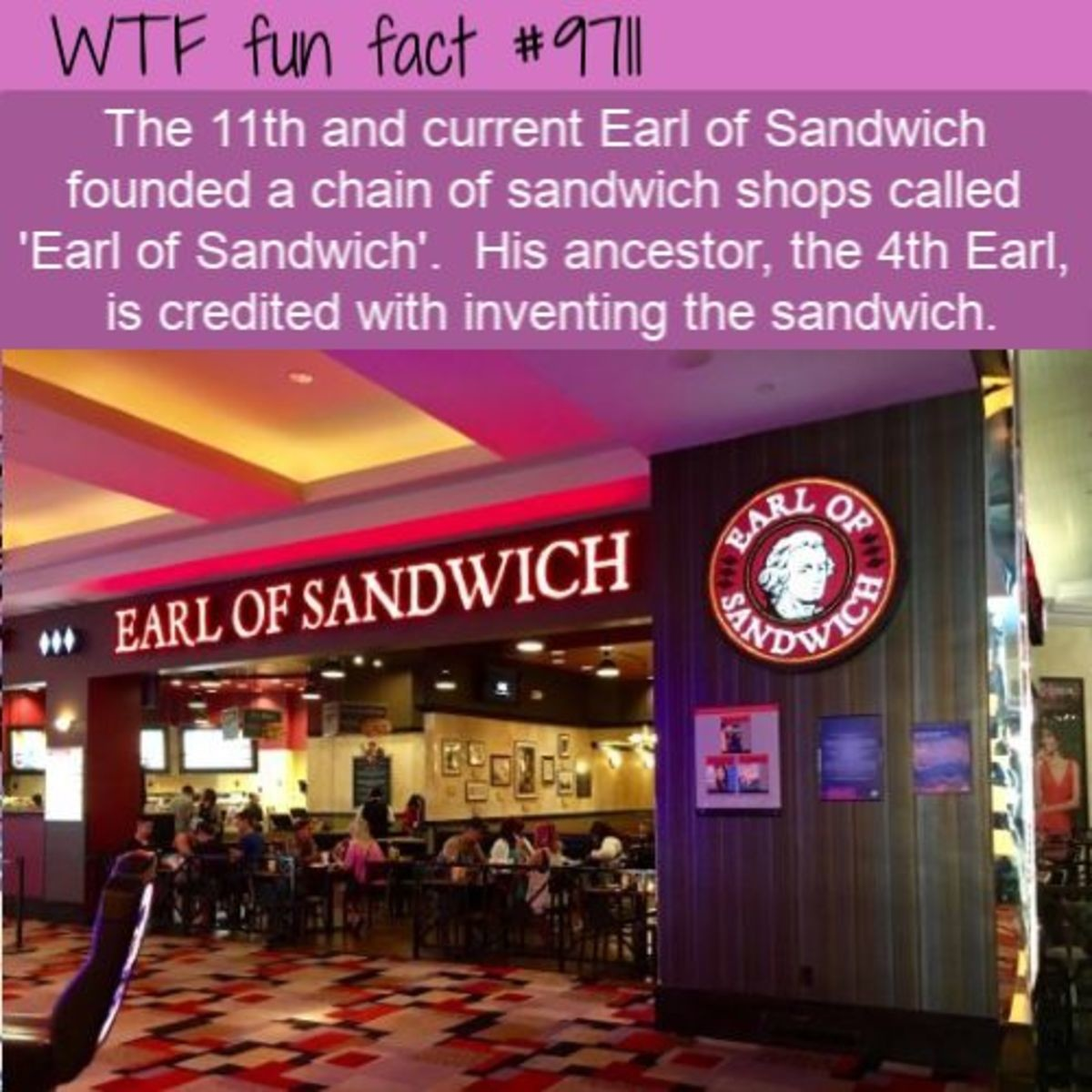 The Sandwich Legacy. .. If you've never been, they actually do make -very- good sammiches at these places, only ever encountered them in airports and in Disney world though