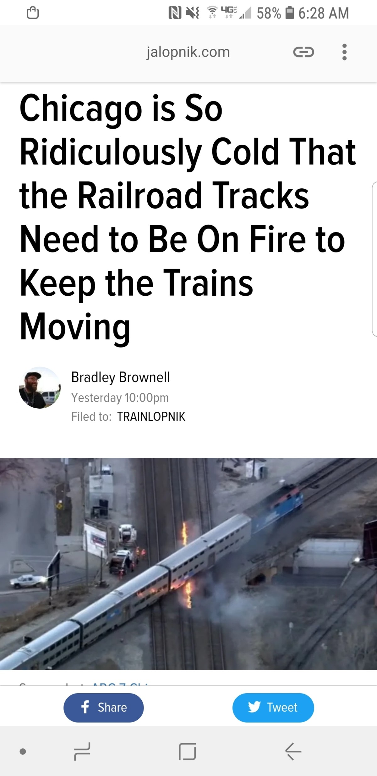The trolley problem but the tracks are on fire. https://jalopnik.com/chicago-is-so-ridiculously-cold-that-the-railroad-track-1832177510..