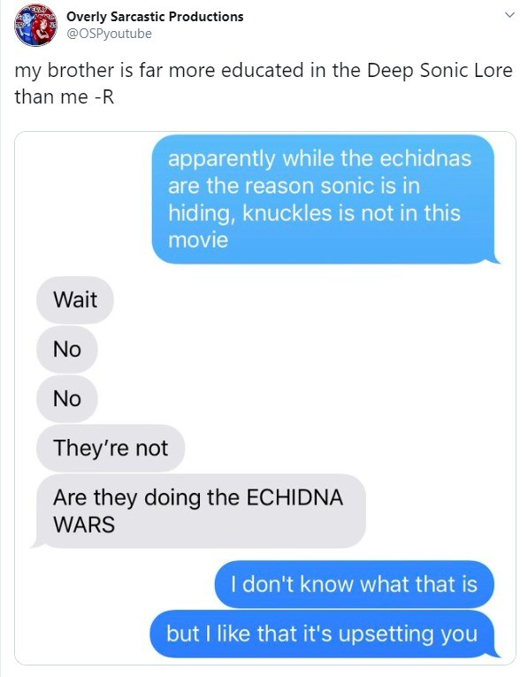 the WHAT. .. I forgot that was a thing. Mostly because Penders took that little nugget of lore with him along with every other detail of the Sonic lore created under his tim