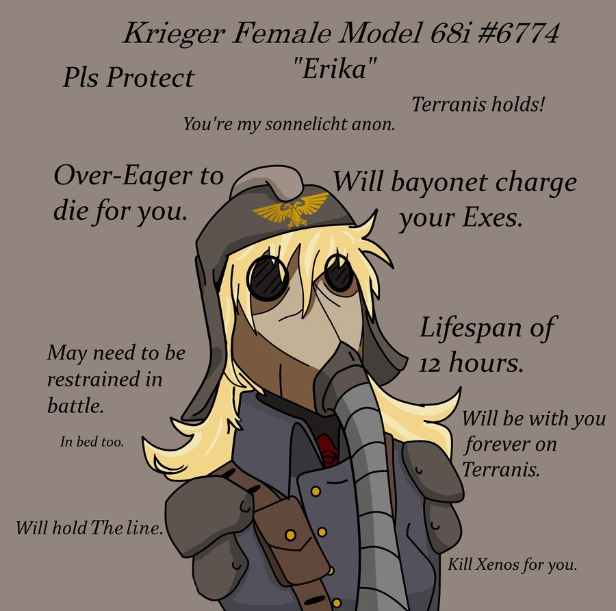 There is no such thing as a Perfect Woma-. Source https://www.deviantart.com/comissargabe/art/Krieg-GF-ERIKA-732483152 https://www.deviantart.com/comissargabe/a