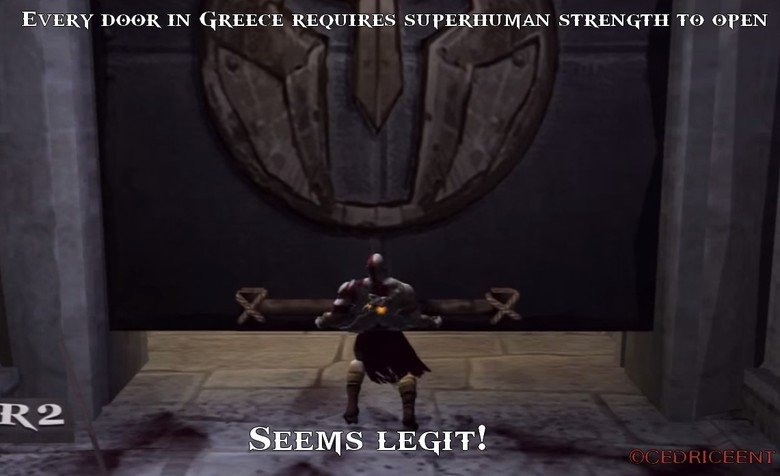 """They were pretty strong back then. . EVERY IN GREECE REQUIRES SUPERHUMAN STRENGTH my """" SEEMS LEGITE. that's why they were all ripped."""