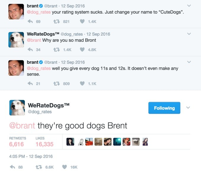 They're good dogs, Brent. join list: QtStuff (508 subs)Mention History.. nahh weratedogs died the second he went political