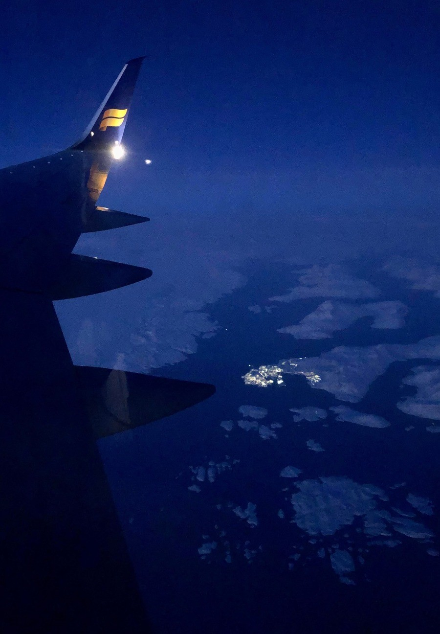 This is the capital of Nuuk in Greenland.. .. Hey thats the icelandic airline nice