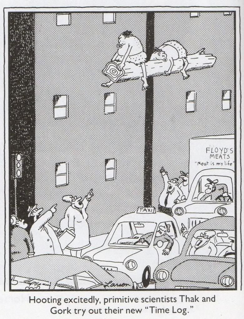 Time Log. Credit to Farside Gallery <3. dentists Thak and Time Log hive Homing excitedly, prim Gork try out the new. Floyd got his straight.