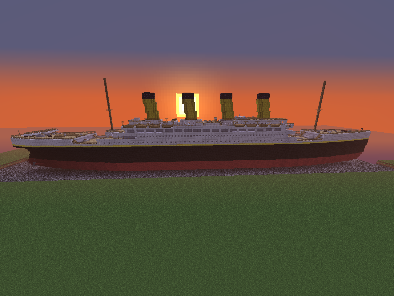 Titanic (1-1 scale). I built this a few months ago. Enjoy!.. I win.