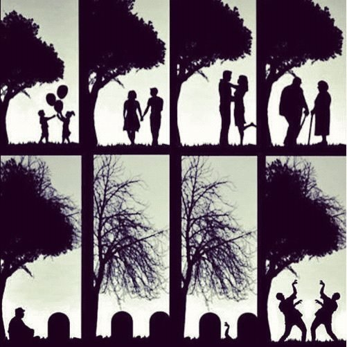 Together forever. It's the circle of life.. or something like that.... Doin' the creep.