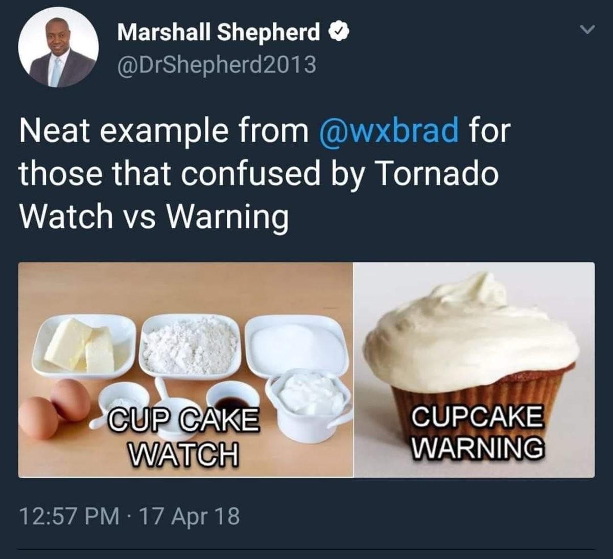 Tornado. .. Ominous with no context.