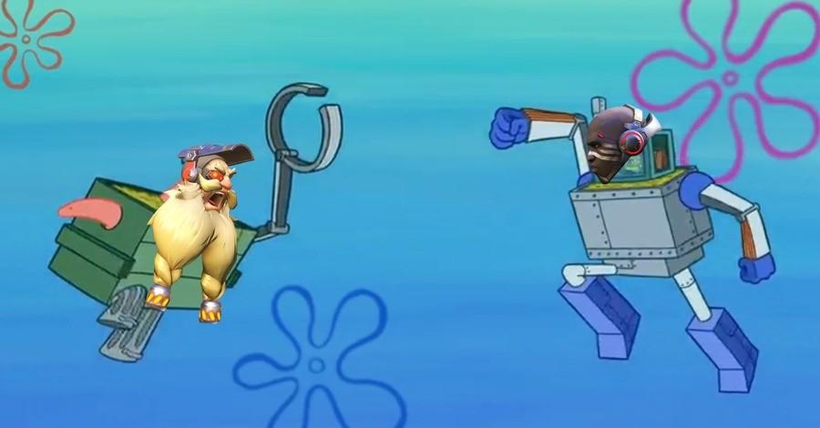 Trash fight. .