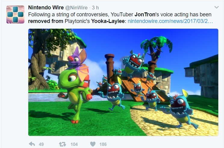 Tron John Has Been Removed. My first upload! Thought this would be interesting. Please don't hurt me if I did it wrong... Okay, maybe a little... Playtonic's st