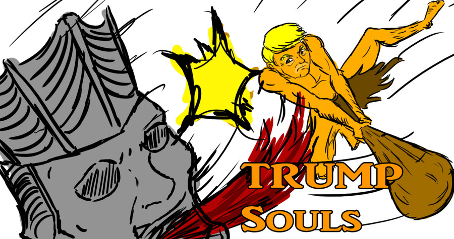 Trump Souls Episode 1. After a friend suggested I make Trump in Dark Souls I decided to go though with it in a let's play. Truth be told this was the funnest li