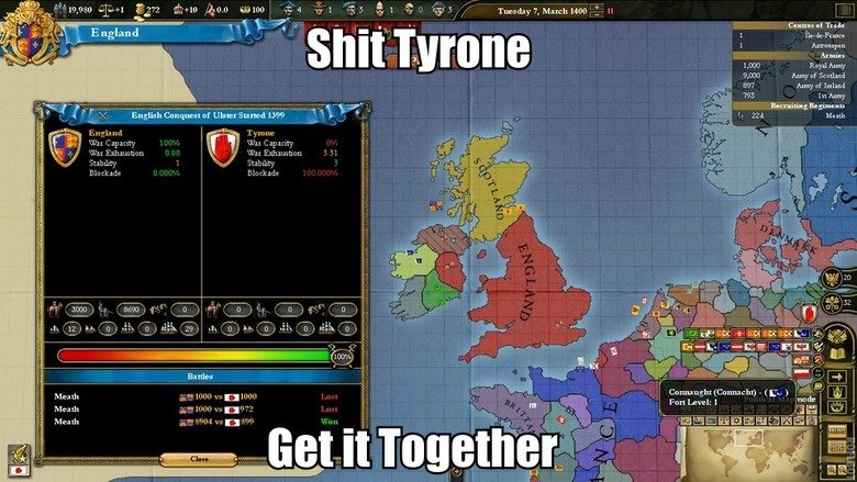 """Tyrone Strikes Again. Source: OC Universallis 3 subscribe for more County Tyrone (from Irish: Tír Eoghain, meaning """"land of Eoghan"""") is one of the six"""