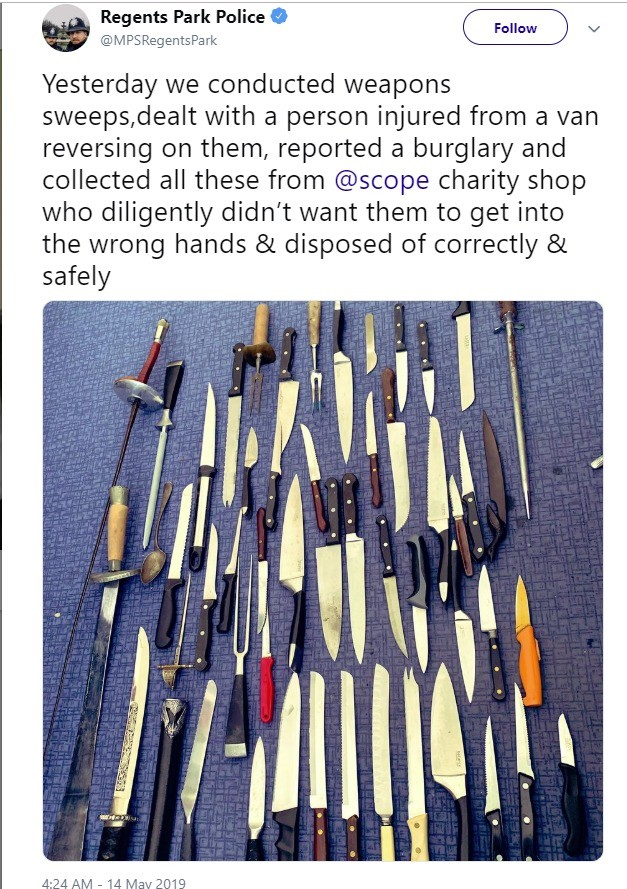 UK's spoon crime!. .. there comes a point in which you kinda stop giving a about your own country i think we've hit that point ages ago and its looped around to being somewhat disgus