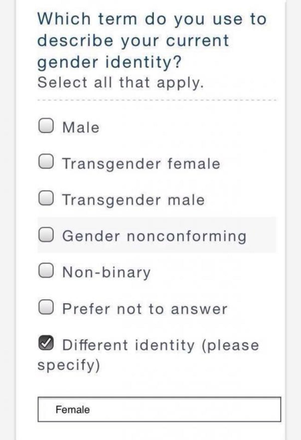 ummm. .. So inclusive as to leave out over 50% of the population