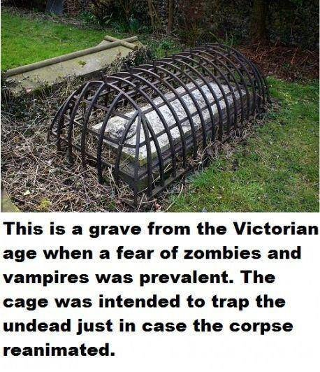 undead proof. can never be too careful. This is Fail. grave hem the Victorian age when Fred fear ' zambies and vampires was prevalent. The was intended trap the