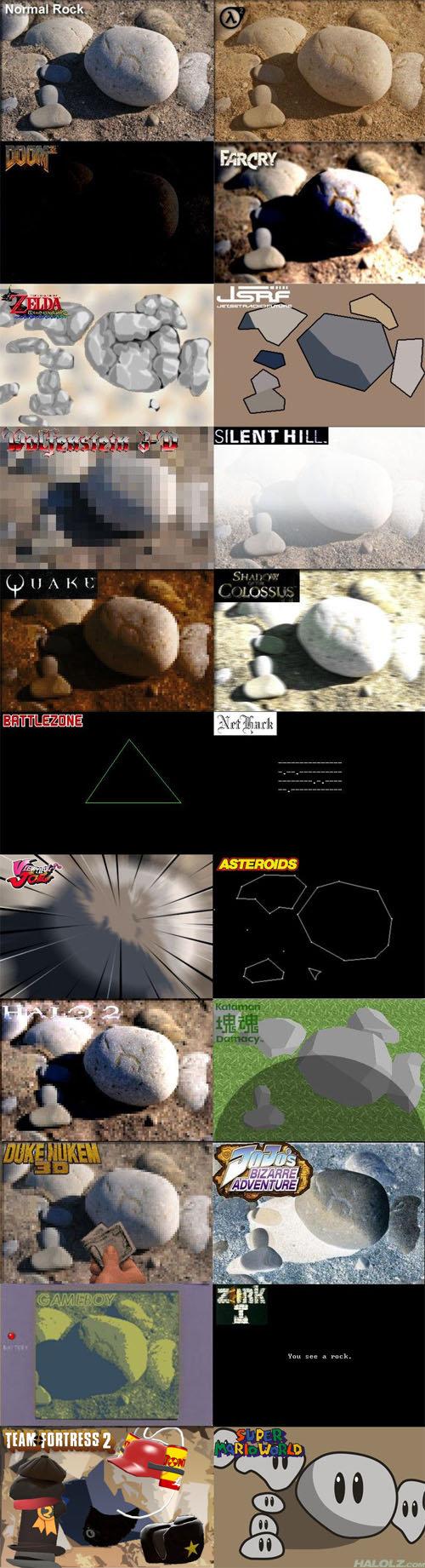 Video Game Rocks. rocks.. lol