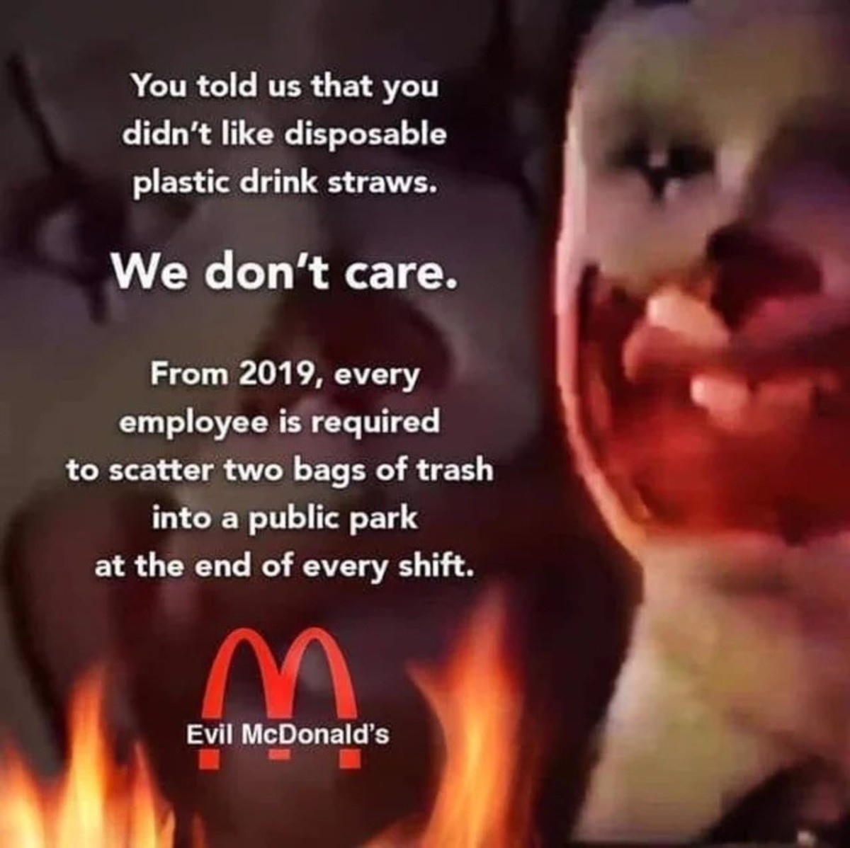 we live in a Mcsociety. .. Dumping Ronald Pics Time again