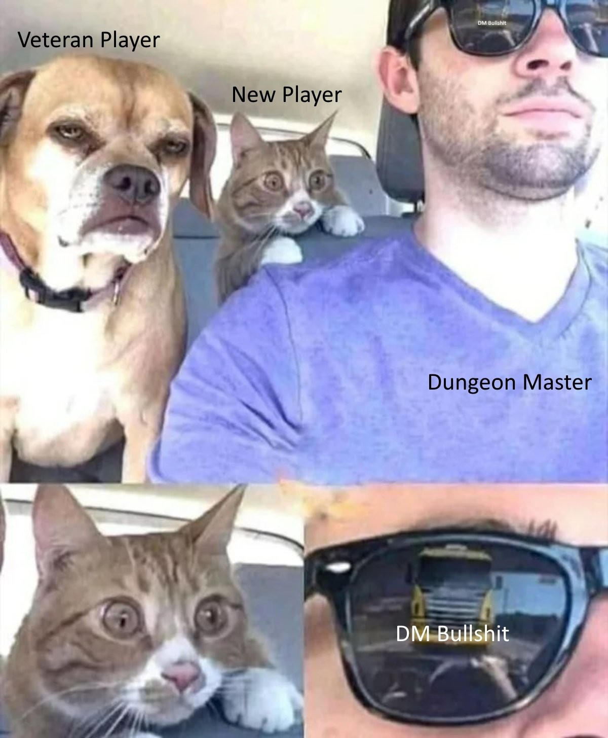 We've all been here atleast once..... In all seriousness I've got nothing but respect for Dungeon masters, but we've all had this happen... There are a few kinds of dm 1. Where the dms didn't plan for to be so hard and they are slow to realize it (i thought my players could handle to dragon, but I w