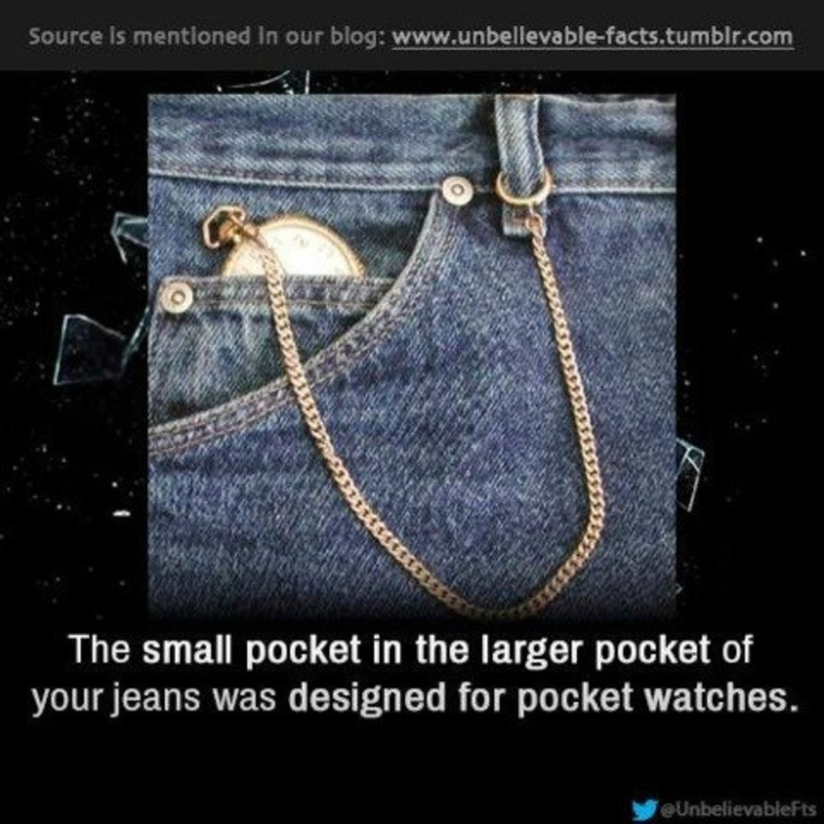 what they are for. join list: Learning (1081 subs)Mention History. The small pocket in the larger pocket of yourfears was designed for pocket watches.. Anyone else want a pocket watch now?