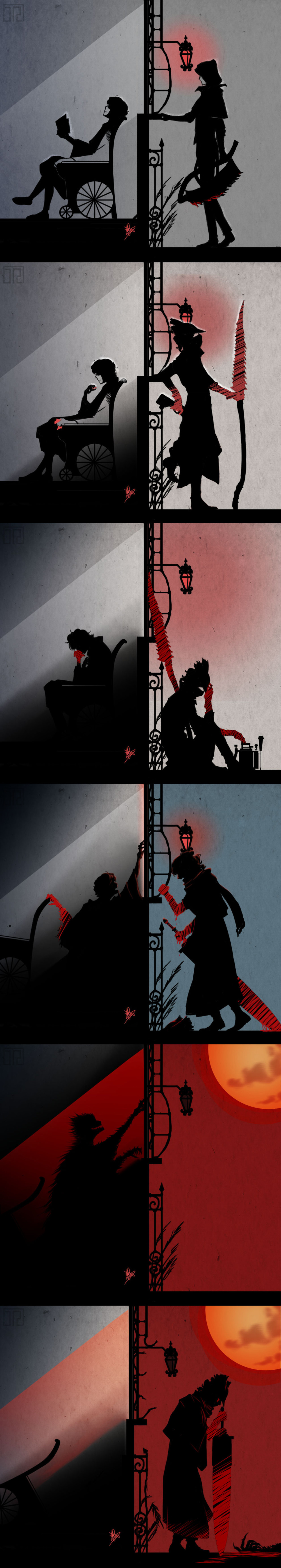 Whether they be man or beast the Hunter hunts.... Source: .. Feels bad man
