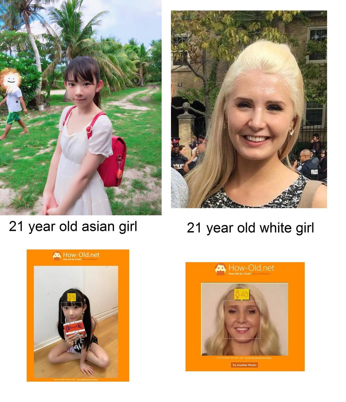white girl like asian