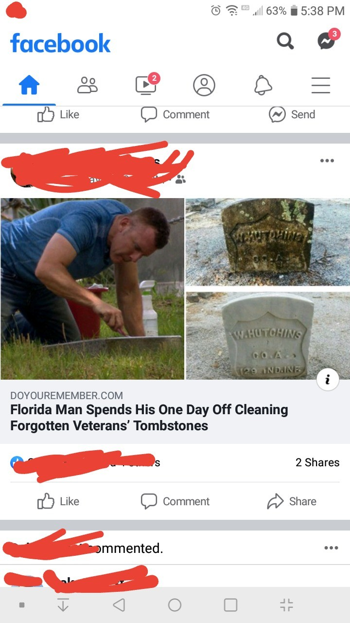 Wholesome Florida Man. .. Here, 'cos no one should have to deal with cancer around Christmas.