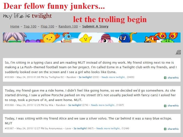 """wild twilight site appears fj used troll. linkto site---> <a href=""""http://www.mylifeistwilight.com/"""" target=_blank>www.mylifeistwilight.c"""