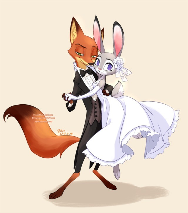 Wildehopps marriage . .. too bad judy had to suffer while getting married
