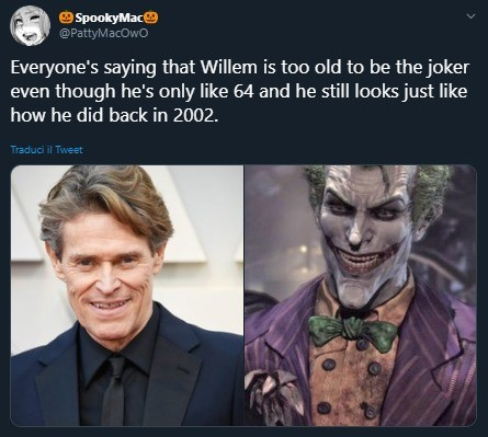 willem. .. I think he'd be awesome