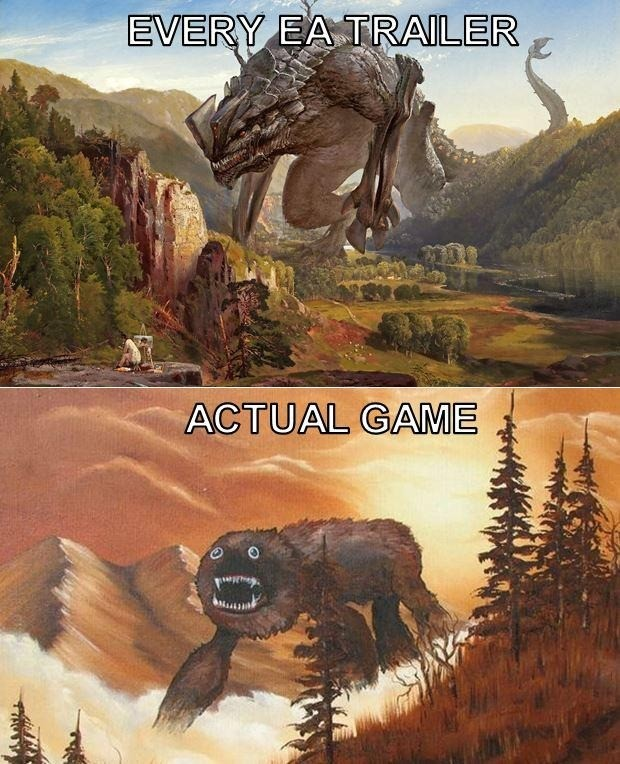 winrawr. .. Every EA trailer vs the actual game