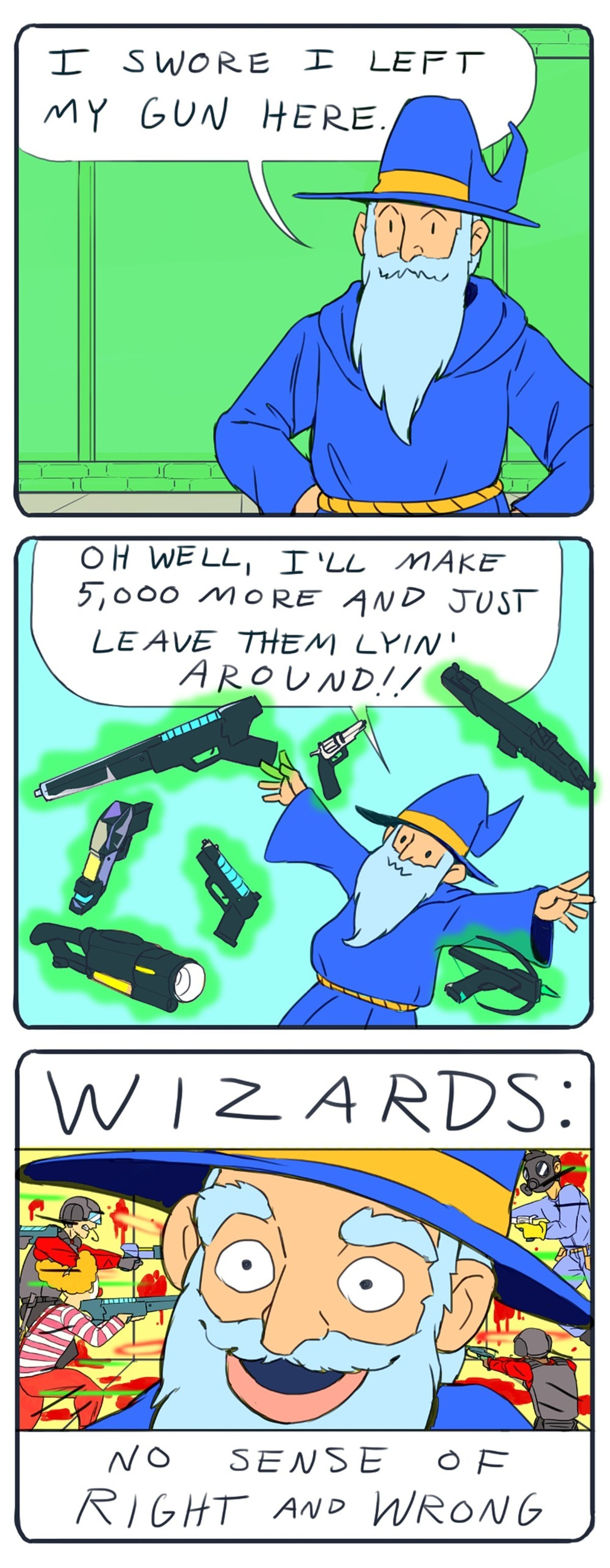 Wizards. .. This is nice and all, but why do people feel the need to recreate these short comics?