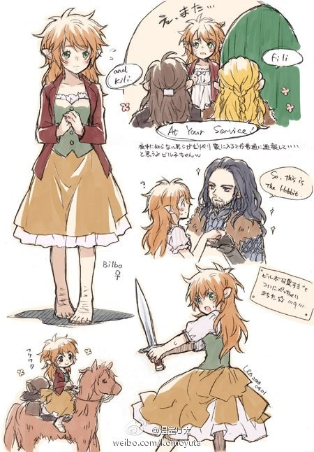 Would this r63 make Smaug a sperm wyrm?. ✿ (ノ∀ノ) ◆ If Bilbo were a girl, he would surely be a seriously handsome heroine, like the beauty. Seriously cute babe,