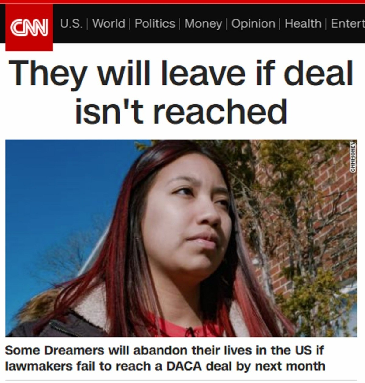 "YES!!!. https://archive.fo/9FSvo. i' erm"" it? 4 Dreamers will abandon their lives in the Us if lawmakers fail to reach Ft,.) DACA deal by next month. Right. I'll believe that when I see half of Hollywood move to Canada like they said they'd do if Trump was elected."