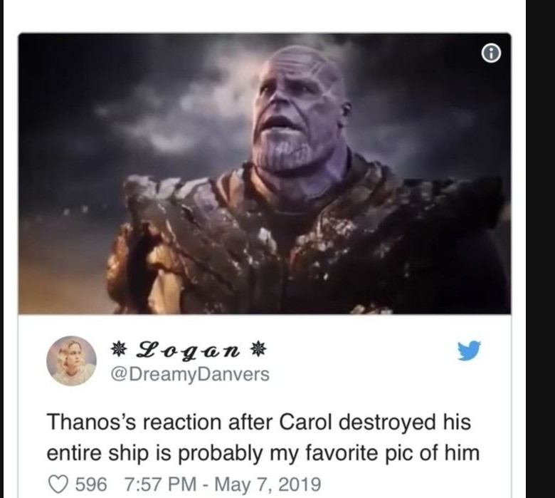 yielding whole Crab. .. Actual Endgame spoilers for those who still haven't seen the movie. Why? Why haven't you seen it yet? I'm glad we didn't get the Thanos we kinda sympathised wit