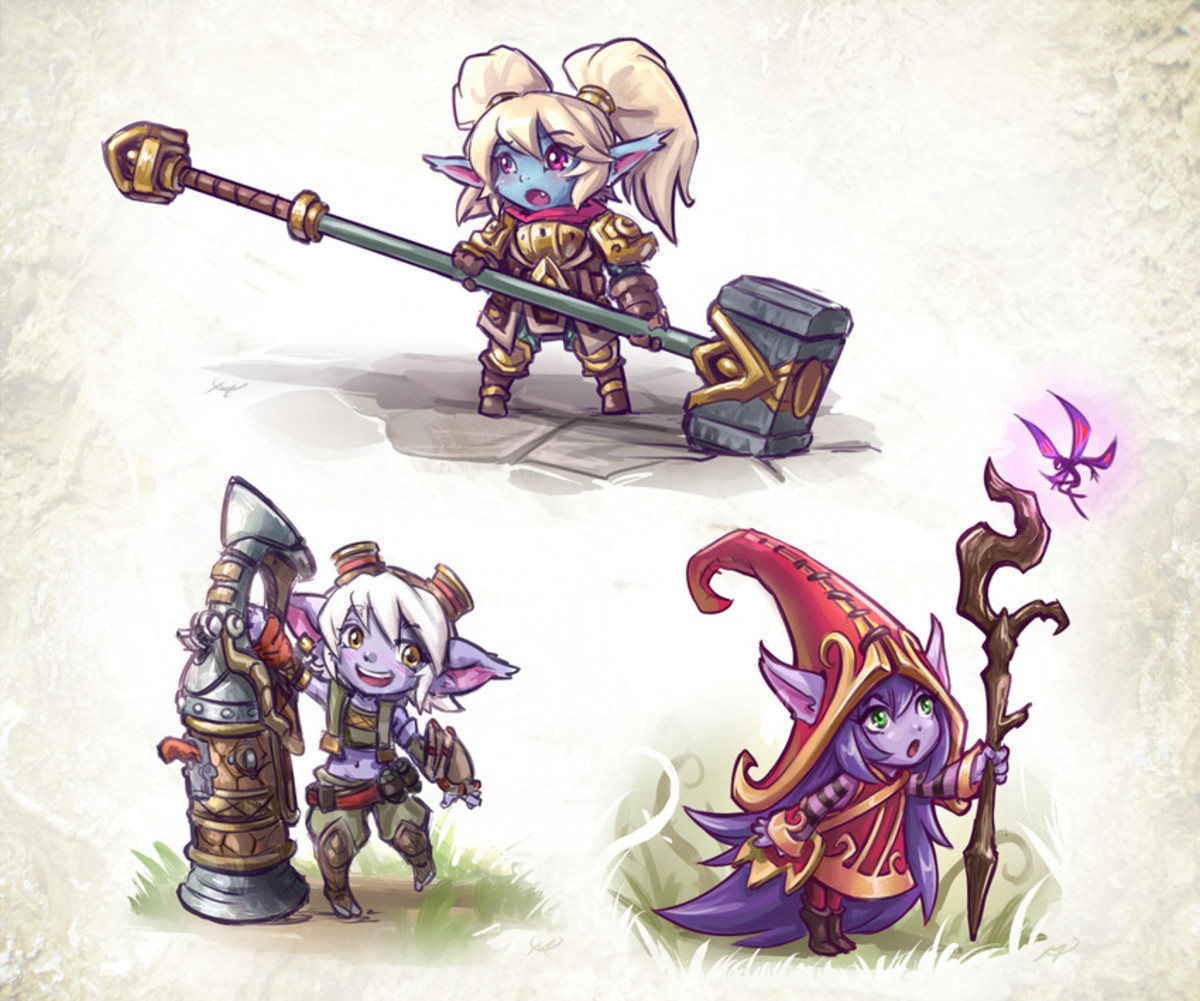 Yordle Girls. .. I always loved the fact that Trist and Lulu were blow backwards by their auto attacks.