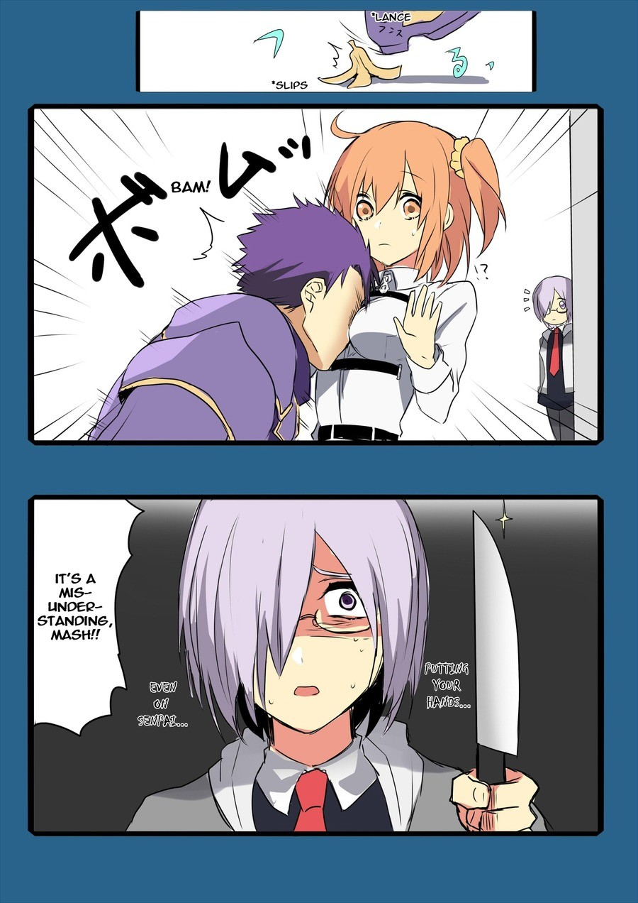 """You have bought this upon yourself. It seem that Seihai-kun give her the """"Sempai Protector"""" join list: FateStuff (521 subs)Mention History. MIS- LANDE"""
