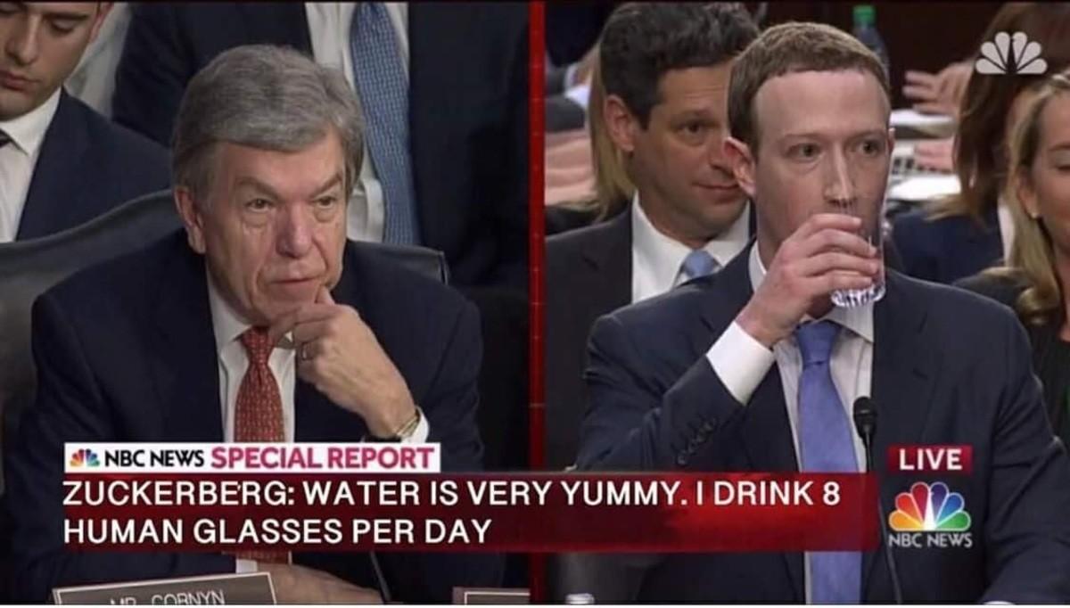 "zucc memes. . it Mac News SPECIAL "" l LIVE ZUCKERBERG: WATER IS VERY ""VIMMY. I DRINK 8 ii HUMAN GLASSES PER DAN' .lil, ? spillt SYSTEM aver! '' religi, FULLY ,5"