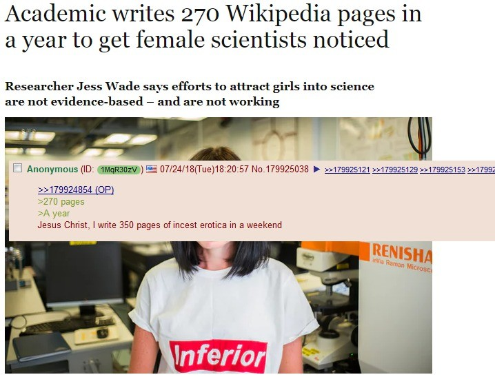""". .. """"We need more women in STEM fields!"""" Why, exactly? crickets"""