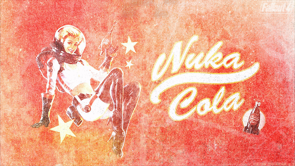 Fallout 4 Nukacola Billboard Style Wallpaper Distressed