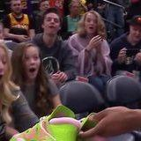Donovan Mitchell gave his shoes to a young fan
