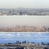 Los Angeles before and after C-virus lockdown.
