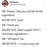 Recipe Sites