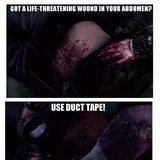 Duct tape fixes everything!