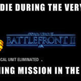 Star Wars Battlefront II 2017, If You Die In the Training Mission