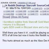 Reddit Destroys Starcraft SourceCode
