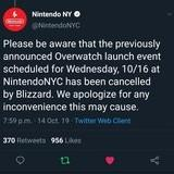 Blizzard Cancels Event