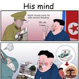 His mind
